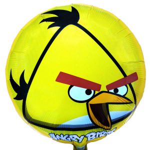 Гелиевый шар Angry Birds жёлтый ― SuperSharik